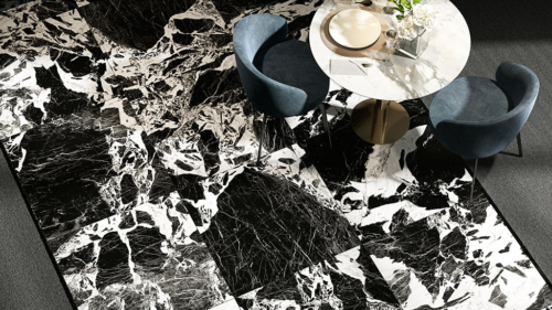 ceramica-fioranese prestige black-antique-effect-74x74 gres-porcellanato-effetto-marmo-1
