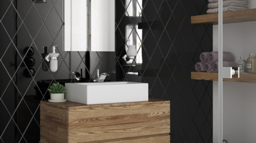 rhombus wall black bano2-824x1030